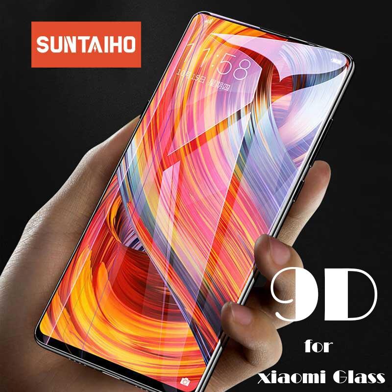 Suntaiho For Xiaomi Redmi Note 7 Glass Mi 9 Redmi 6 6A 4X Glass Redmi Note 5 4X Plus Screen Protector 9D Full Coverl Film