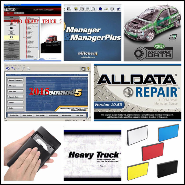 2019 Alldata Auto Repair Software all data 10.53V + Mitchell ondemand 2015 car repair data+ELSAWin 5.3+ATSG+Vivid 21in1TB HDD3.0