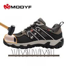 Modyf Männer stahlkappe arbeitssicherheitsschuhe reflektierende beiläufigen atmungsaktiv outdoor stiefel pannensichere schutz schuhe