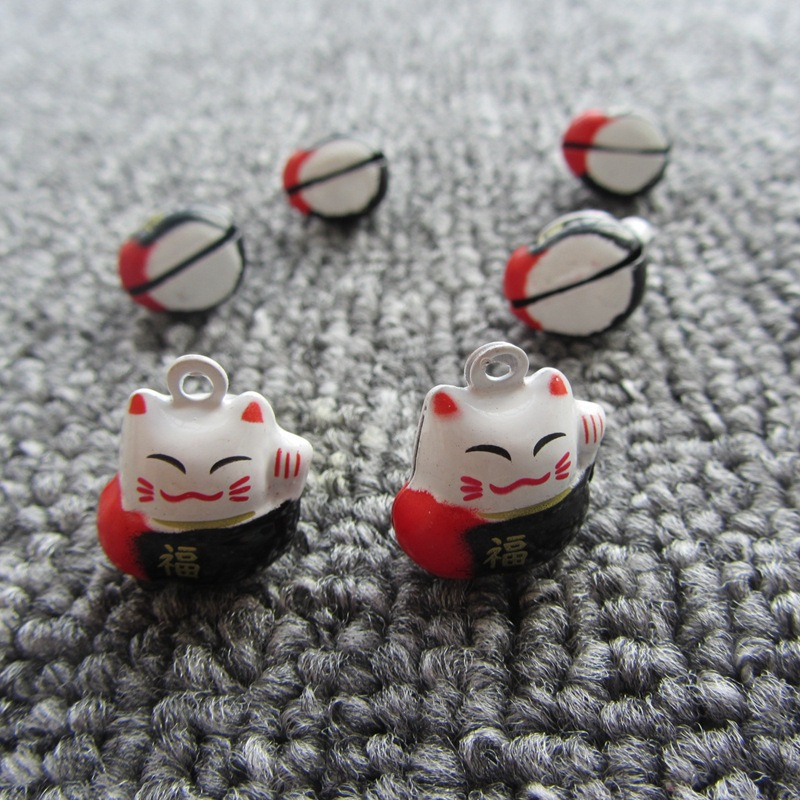 Plutus Lucky Cat Bell Wholesale 2pcs lot Cartoon font b Anime b font Christmas Bell Charm