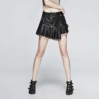 PUNK RAVE Women Steampunk Leather Shirt Fashion Novelty Hip Hop Sexy Short skirt Streetwear Women Punk Mini Skirts