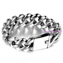 Hot Sale Men Jewelry Pulseras Simple Silver/Gold/Black Stainless Steel Link Chain Bracelets Male Bracelet Punk Accessories