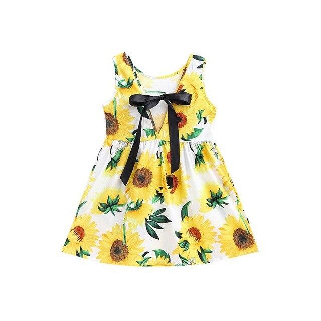 מכירה חמה בייבי בנות שמלת קיץ נסיכת פרח שמלות ילדה ילדי בגדי ילדי שמלות יום הולדת
