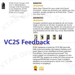 Image 5 - XTAR VC2S VA LCD Screen Micro USB Powered Portable Power Bank Charger Apply To 3.6V/3.7V Li ion/IMR/INR/ICR 26650 18650 Charger