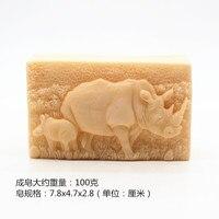 Tắm handmade muối xà phòng khuôn tê giác mô hình xà phòng tắm Khối khuôn salt khắc xà phòng làm silicone molds