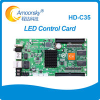HD C35 replace HD C30B p10 graphics message full color rgb display video wall controller led sign control card
