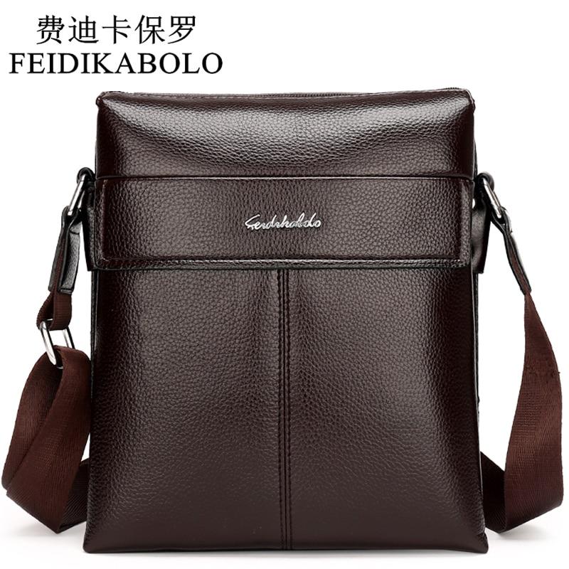 2017 Man Leather Messenger Bag, Male Cros