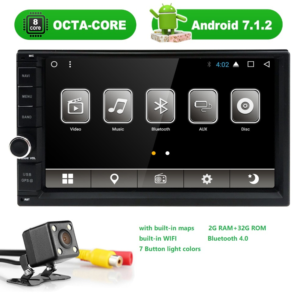 2G+32G Octa Core Android 7.1 car multimedia player gps navigation universal video 2 din car audio for nissan xtrail Qashqai juke все цены