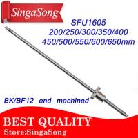 SFU1605 200 250 300 350 400 450 500 550 600 650 Mm Ball Screw With Flange