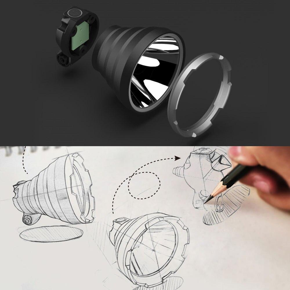 Image 5 - BORUIT B10 XM L2 LED Headlamp 3 Mode 6000LM Powerful Headlight USB Rechargeable Head Torch Camping Hunting Waterproof Flashlightled headlampwaterproof headlighthead lamp -