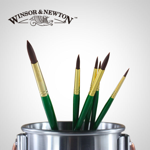купить 6pcs Winsor&Newton Nylon hair Round head,wooden handle oil paint brushes set,Acrylic paint brush set.sell fast.reasonable price недорого