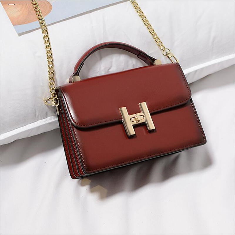 цены  New Fashion Women Crossbody Bags Mini Small Handbags Genuine Leather Chains Shoulder Bag Ladies Messenger Handbag H Letter Flap