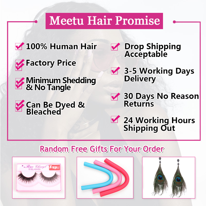 Meetu Brazilian Straight Hair Weave Bundle Non Remy Human Hair - Skønhed forsyning - Foto 2