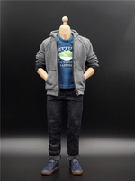 Collection 1/6 Scale Dutch brother Little Spiderman Campus style casual wear casual suit for 12man male action figure body