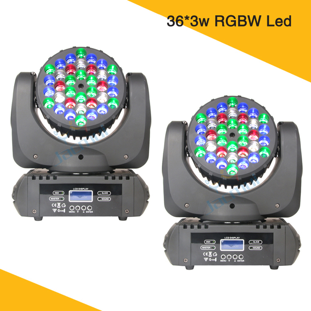 2 Pack 36*3W Moving Head Wash Light LED Lights Mini Moving Head Stage Light For Night Club Event