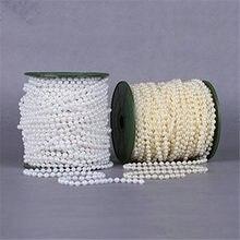 10m 4mm koralik sznur pereł kości słoniowej i biały dla rzemiosła, dekoracje ślubne AA7956