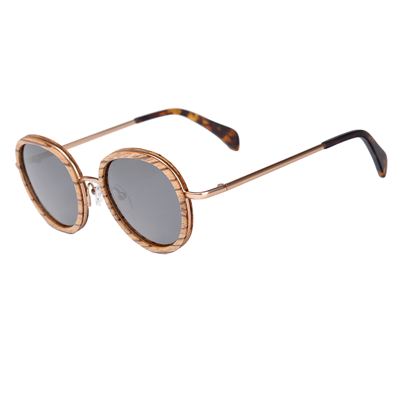 a228312ff7 BOBO BIRD Oval Sunglasses Women Polarized Wood Sun Glasses in Wooden Gift  Box Metal Temple gafas
