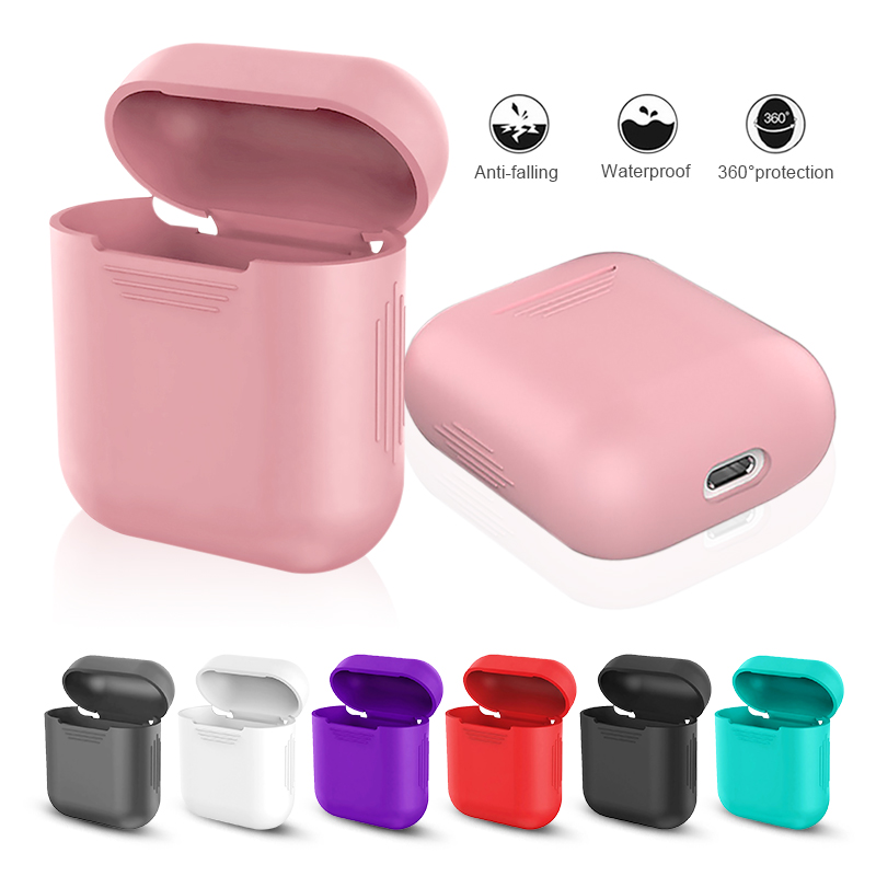 7 Colors Earphone Case For Apple Airpods Silicone Case Wireless Bluetooth Earphone Cover For Apple Airpods Accessories Protector