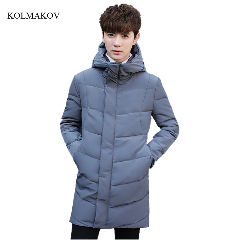 New winter style men boutique warm   down     coats   fashion casual hooded thicking zippers   coat   men's slim solid overcoat size M-3XL