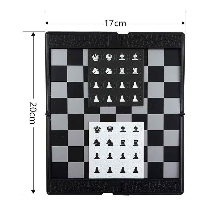 Tipo Carteira Dobrável Xadrez magnético Tabuleiro de Xadrez Jogo de Xadrez Mini Portátil Ultra-fino Jogo Presente da Criança Presente Educacional Yernea