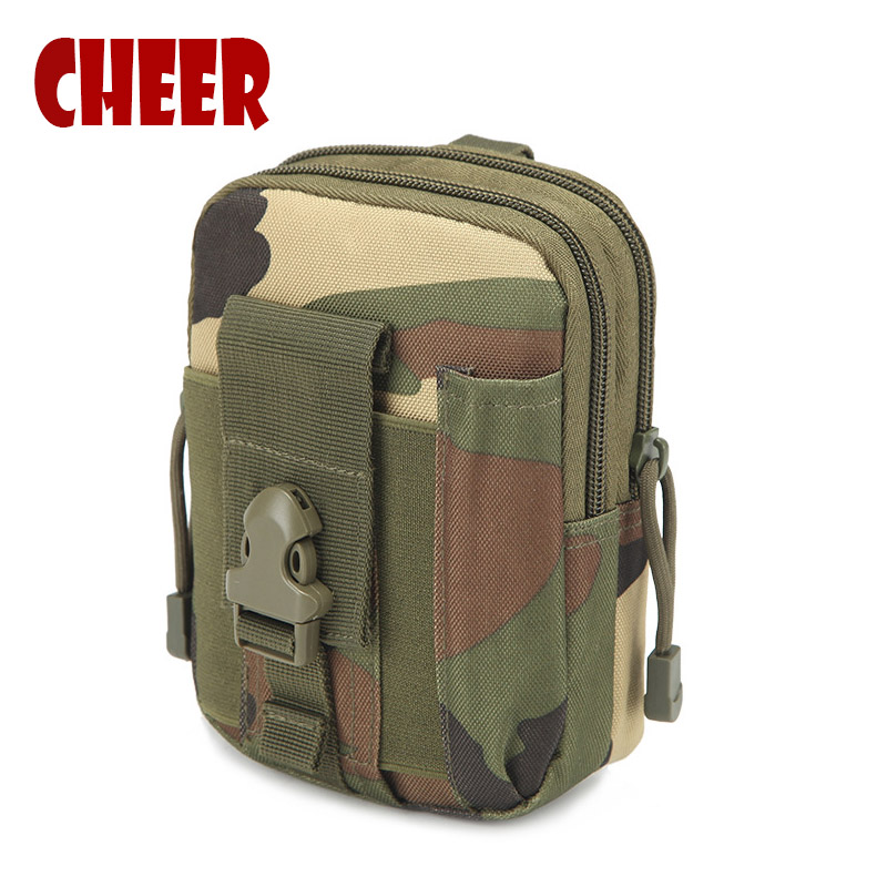 Fashion Waist bag Small square phone bag waist retro Camouflage Oxford cloth Casual waist bag high quality travel bags wallet waist bag
