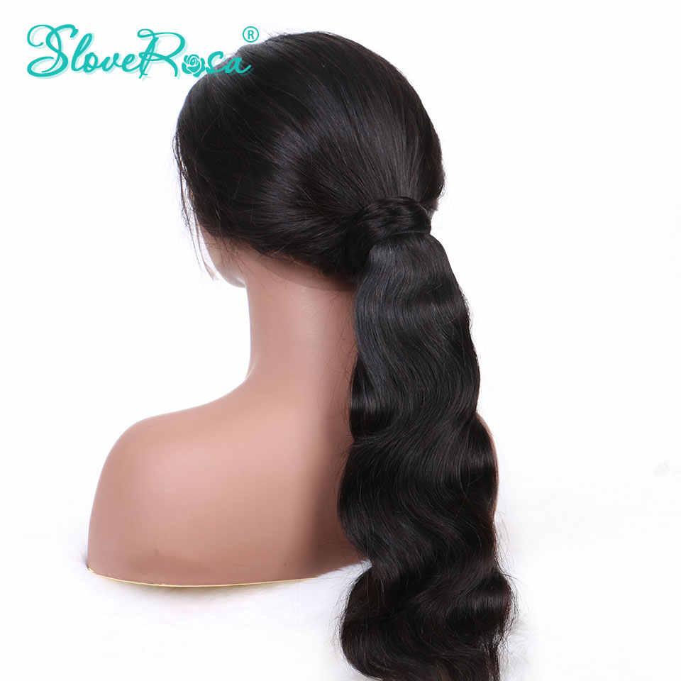 Cola de Caballo onda del cuerpo pelo brasileño Color negro Natural para mujer 150g cabello humano Remy colas de caballo Clip-en el amor rosa