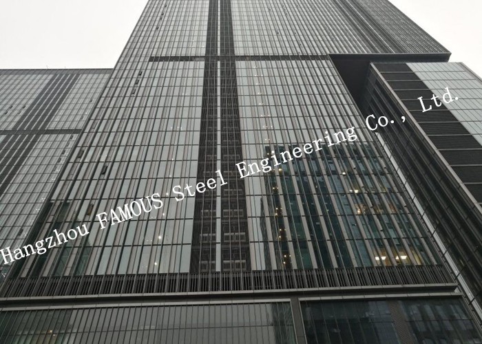 Double GlazedInsulation And Laminater Glass Facade Curtain Wall Unitized And Stick Built System