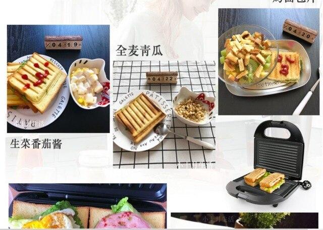 Electric Egg Sandwich Maker Mini Grilling Panini Baking Plates Toaster Multifunction Non-Stick waffle Breakfast Machine EU 5