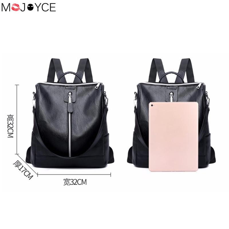 Leather Backpack Mochila Women Big Zipper Backpack Student Bag Backpack Female Large Casual Travel Bags Mochila Feminina Sac #6