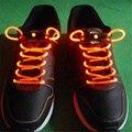 Venta caliente LLEVÓ Luces de La Noche Luces de La Decoración de Cordones de Los Zapatos Flash LED Cordones de los zapatos Cordones de Los Zapatos Disco Party Light Up Glow Stick Correa