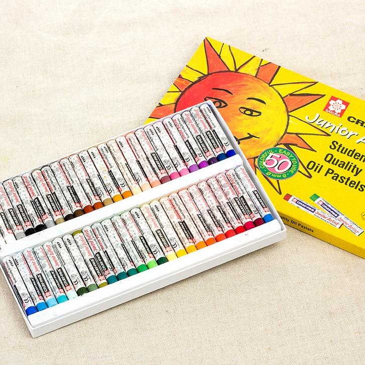 50 Colors Crayons Suit Washable Color Crayon Children Graffiti Oil Pastel Art Supplies Papelaria