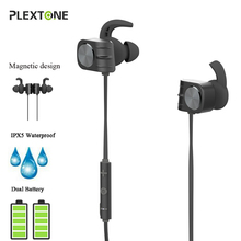 BX338 Wireless Bluetooth Magnetic Headphones IPX5 Waterproof Earbuds Headsets with Microphone Bass Earphones for Phone Sport top mini sport bluetooth earphone for asus zenfone 3 max zc553kl earbuds headsets with microphone wireless earphones