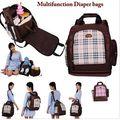 Multifuncional bebé bolsas de gran maternidad mochila mochila para las mamás se preocupan Oxford impermeable asiento de la silla bolsas de viaje