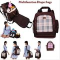 Multifunctional Baby Nappy Diaper Bags Big Maternity Backpack For Moms Waterproof Oxford Chair Seat Travel Bags