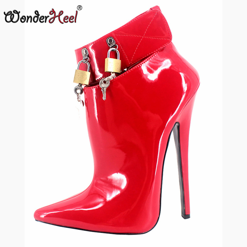 Wonderheel new women boots extreme high heel 18CM heels fashion show ankle boots brand shoes sex