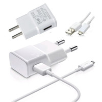 100% Genuine original 2A EU/US Plug Wall Charger + Micro USB Charger Cable For Samsung Galaxy S4 S3 for HTC M8 M7 for LG G2 G3