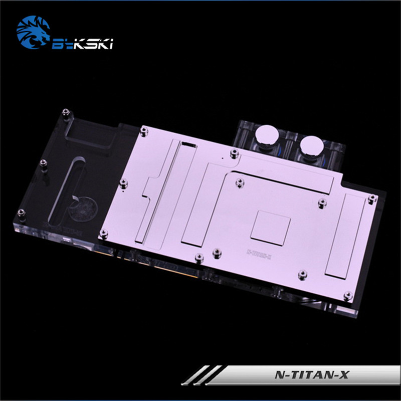 Bykski Full Coverage GPU Water Block For Founder Edition GTX-TITAN-X  GTX-980TI-X Graphics Card N-TITAN-X