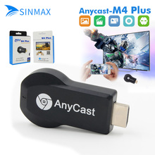 AnyCast M4 Plus Wireless WiFi Pantalla Dongle Receptor 1080 P HD Interfaz TV Stick Miracast DLNA Airplay para Teléfonos Inteligentes Tablet