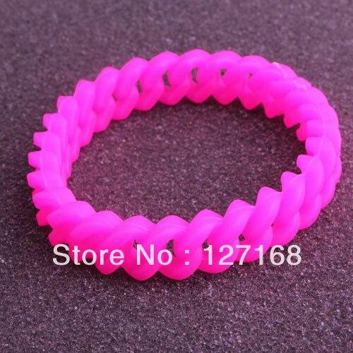 Lot 6 Wristband Silicone Rubber Adult Unisex Bracelet Sport Band Plain Black