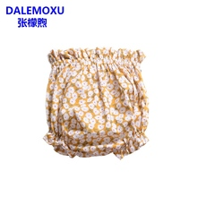 DALEMOXU Baby Ruffle Girl Underwear Cute Floral Short Infant Panty Cotton Underpants Toddler Diaper Bloomers Clothing Gift