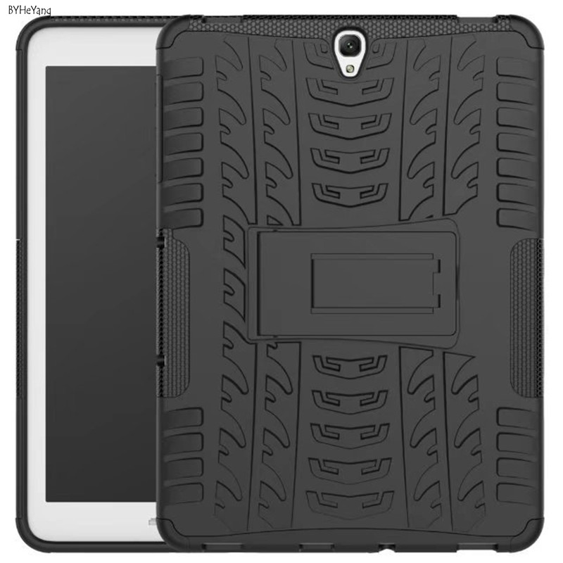 For Samsung Galaxy Tab S3 9.7 SM-T820 T820 T825 Tablet Armor Case TPU+PC Heavy Duty Case Hybrid Rugged Rubber Back Cover shockproof hybrid heavy duty stand tablet case hard back cover rugged rubber armor pc tpu for ipad 9 7 inch 2017 a1822 a1823