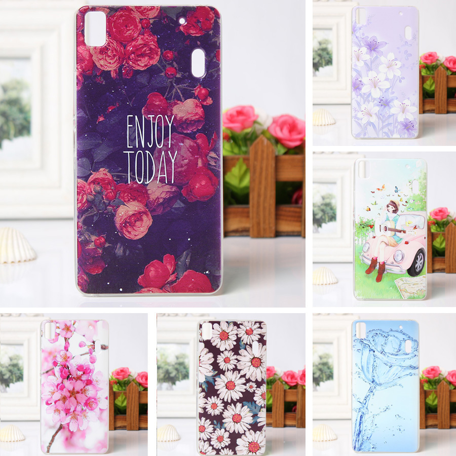 Back Cover Lenovo K3 Note S60 Softcase Soft Jelly Case Luxury Flower Painted For A7000 Phone