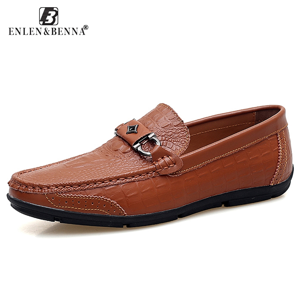 Casual Men Shoes Slip-On Spring and Autumn Handmade Genuine Leather Loafers Fashion Breathable Driving Slip On Moccasins 9859 2017 spring autumn casual genuine leather breathable men shoes han style tide fashion men manual waterproof slip on drive shoes