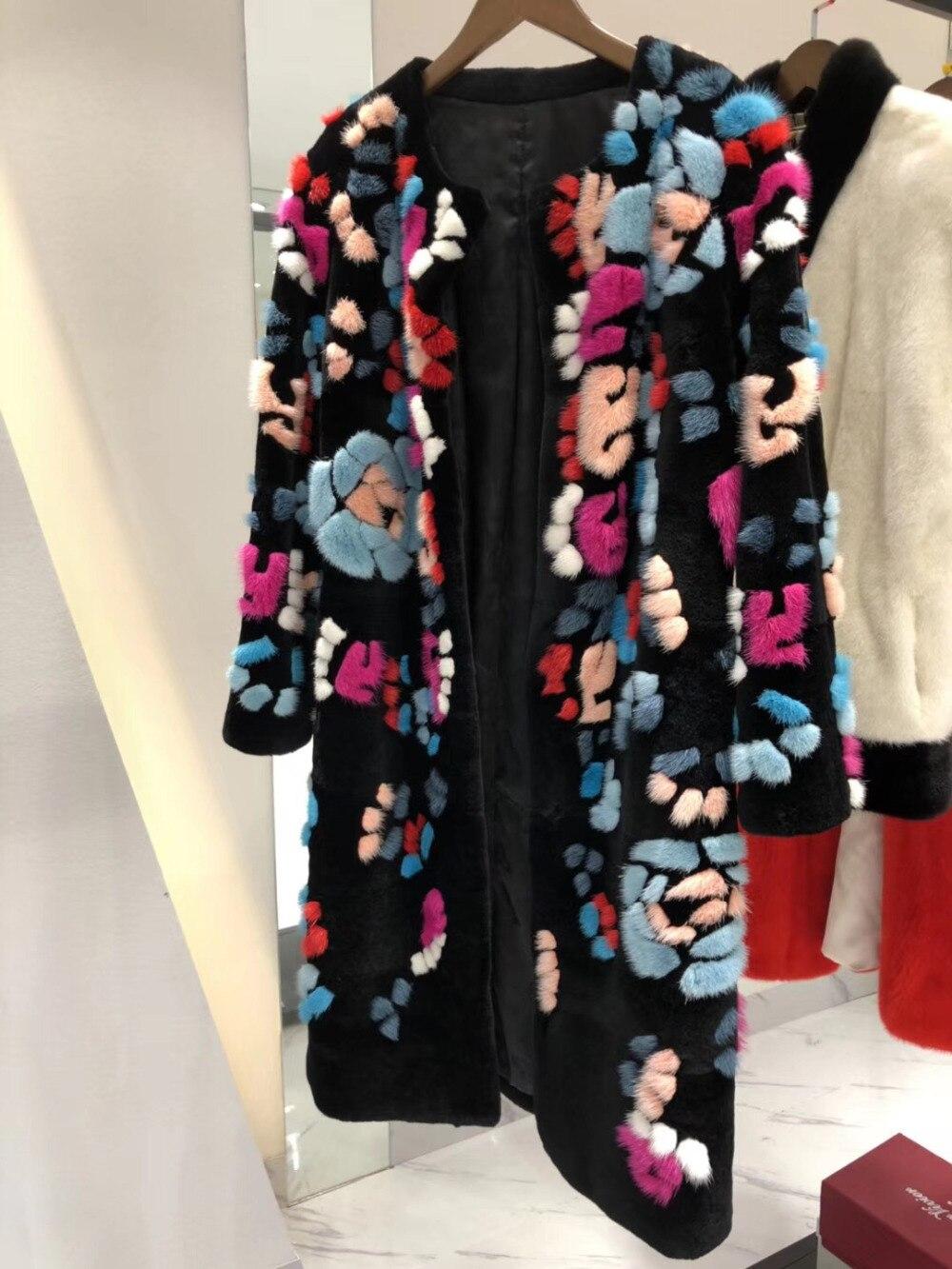 Arlenesain personnalisé limité hiver édition limitée Pure fabriqué à la main parquet haut de gamme boutique manteau de fourrure de vison