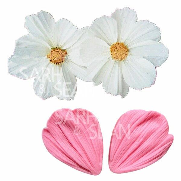 Jm019 transvaal daisy flower pétalos fondant cake moldes fondant decoración herr