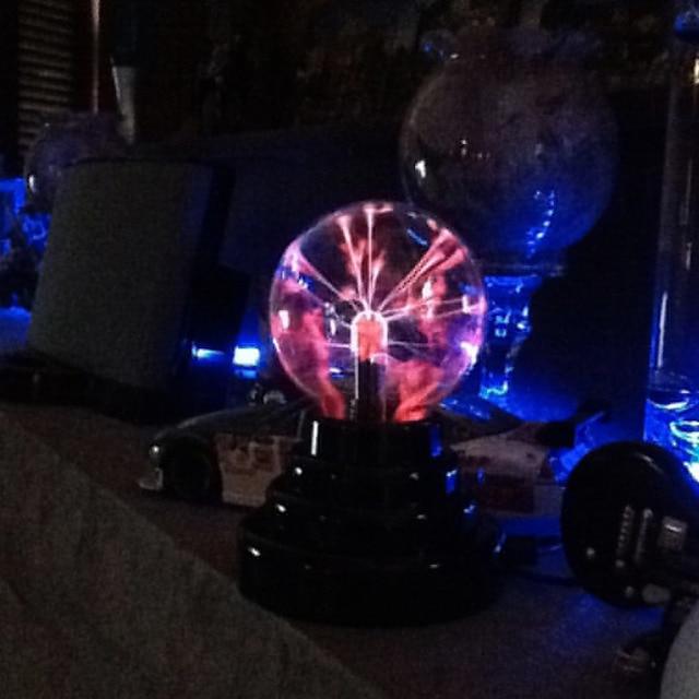 "3"" USB Plasma Ball Electrostatic Sphere Light Magic Crystal Lamp Ball Desktop Lightning Christmas Party Touch Sensitive Lights"