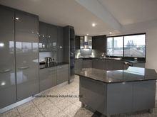 Глянцевая/Лаковая кухонная утварь кухонный шкаф с эффектом блеска
