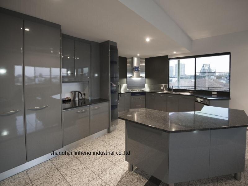 Haute brillant/laque armoires de cuisine mordern (LH-LA102)