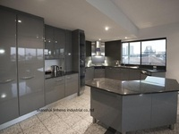 High gloss/lacquer kitchen cabinet mordern(LH LA102)