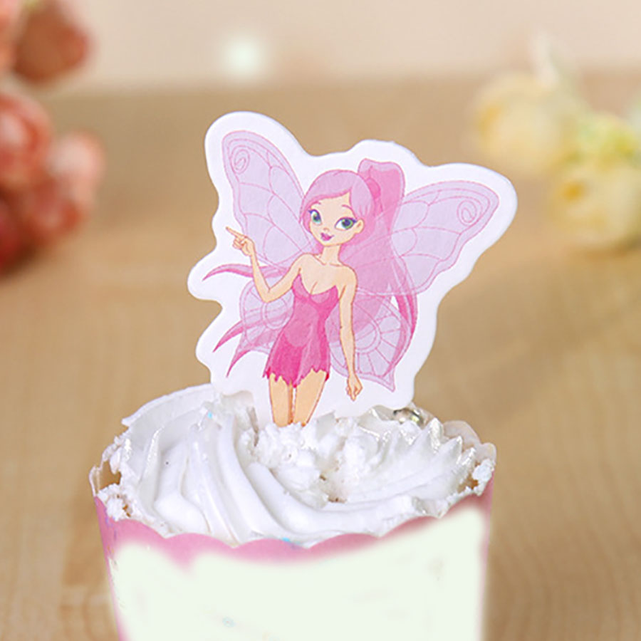 Fairy Birthday Party Decorations Online Get Cheap Fairy Cupcake Decorations Aliexpresscom